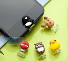 Silicone Rubber Duck Owl Penguin Lightning Button Push Duck Cap for iPhone 5 -30