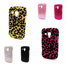 Bling Glitter Leopard/Shiny Hard Back Case Cover for Samsung Galaxy S Duos S7562