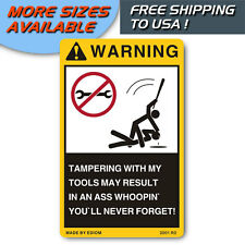 WARNING SIGN DANGER DECAL FOR Your Tool Boxes, Belts & Storage, Boxes & Cabinets