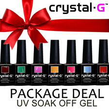 BRAND NEW CRYSTAL-G PREMIUM UV SOAK OFF GEL NAIL POLISH (30+ COLOURS)