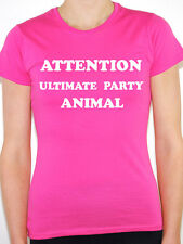 ULTIMATE PARTY ANIMAL - Fun / Party / Rave / Hen / Novelty Themed Womens T-Shirt