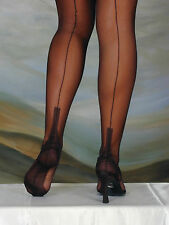 ELEGANTI FULLY FASHIONED STOCKINGS CUBAN HEEL IMPERFECTS ON SALE WAS £11-£12.25