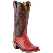 Lucchese Women's 1883 Red Miller Stictch Boots N4722 NIB