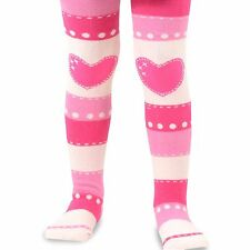 Naartjie Girls Stripes with Heart Tight, Pink NWT