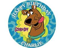 "7.5"" ROUND SCOOBY DOO  PERSONALISED AGE/NAME CAKE TOPPER  ICING OR WAFER PAPER"