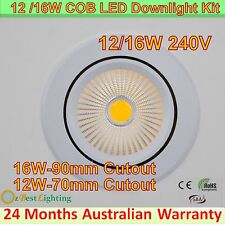 12W, 16W COB LED Downlight Kit Dimmable or not - Warm, Daylight or Cool White