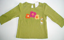 NWT GYMBOREE WOODLAND FRIENDS GREEN FLORAL TOP SHIRT FALL YOU PICK SIZE