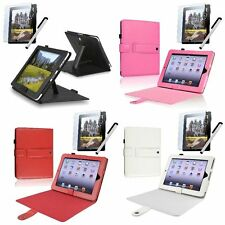 Folio Flip Leather Case Cover Stand For Apple iPad 1 1st New w/Protector+Stylus