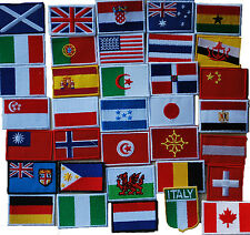 Flag Badge PATCH UK Scotland Wales Australia France Poland Japan Canada Ireland