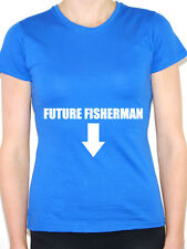 FISHERMAN FUTURE - Fish / Fishing / Pregnancy / Pregnant Themed Women's T-Shirt