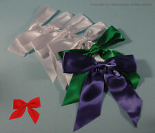 Satin BOWS Red White Green or Violet-Blue Big Peel-and-Stick Wedding Christmas