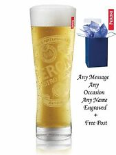 Personalised Engraved Branded 1 pint Peroni Lager Beer Glass Free Gift Box