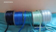 SATIN RIBBON - BERISFORDS BLUE COLOURS 3MM 7MM 10MM 15MM 25MM 50MM
