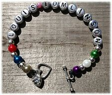 * MADE WITH LOVE * PERSONALIZED BRACELETS - JASON DERULO - WILL.I.AM - UNION J