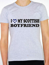 I LOVE MY SCOTTISH BOYFRIEND - Scotland / England / Fun Themed Women's T-Shirt