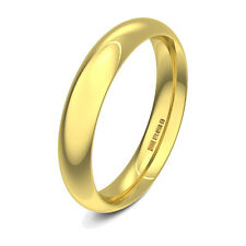 Brand New 9ct Yellow Gold Court Shaped Heavy Plain Wedding Ring Band