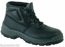 Globetrotters LH801 S1 Black Mens Steel Toe Cap Safety Work Boots CLEARANCE UK13