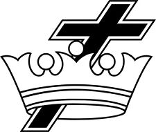 Cross & Crown Masonic Vinyl Decal Sticker Car Window Wall Printed