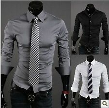 New Designer Pure Colour 2013 Luxury Mens Slim Fit Casual Formal Shirt SH002