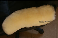 GENUINE 100 % MEDICAL SHEEPSKIN ARMREST COVER PAD OFFICE CHAIR  WHEELCHAIR