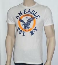 American Eagle Outfitters AEO Mens Circle Eagle Logo White T-Shirt New NWT