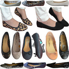 Ladies Womens Flats Ballerina pump ballet dolly bow shoes Primark New 3-8 size ♥