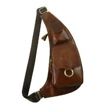New Mens Bags Real Leather Phone Pockets Cross body Satchel/Shoulder/Chest pack