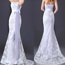 New Stock Bridal Mermaid Lace Wedding Dress Bride Long Beach Formal Dresses Maxi