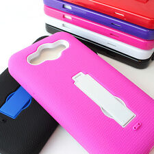 For LG Optimus G Pro E980 AT&T Rugged Impact Hybrid Hard Kickstand Case Cover