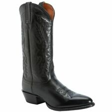 NOCONA Men's Black Imperial Calf Leather Pull On Cowboy Boots NB2005 NIB
