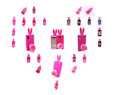 3D Cute Rabbit Bunny Soft Gel Rubber Silicone Rose Case Cover for Various Models
