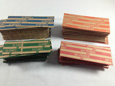100 Coin Money Wrappers Wrapping Sleeves Rolls Paper Kraft Lots -You choose