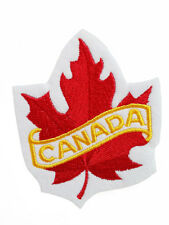 CANADA Canadian Flag Symbol MAPLE LEAF Embroidery Iron on Patches Woven Badges