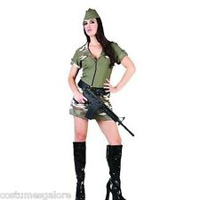 SW Ladies Costume Fancy Dress Sexy Army Girl Military Pilot Soldier Size 12 14
