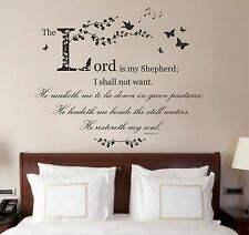 Psalm 23, Bible Quote / Verse, Christian Vinyl Wall Art Sticker, Bedroom, Study