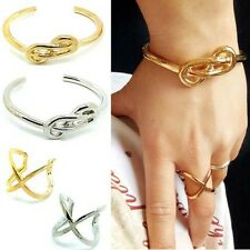 New Fashion Golden/Silver Vintage Infinity Sign Bangle/Ring Forever Lovely Gift