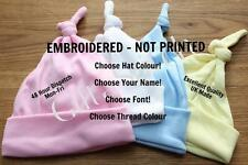 Personalised Newborn Baby Hat - Choose your name, font & thread. Boy/Girl Gift.