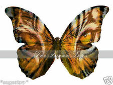 24 x  Stunning TIGER EYES Butterflies Edible Decorations Cup Cake Toppers