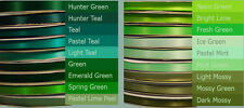 5-yd  3/8 inch Double-faced SATIN ribbon hunter mint teal neon spring moss green