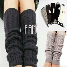 New High Quailty Women Winter Knit Crochet Fashion Leg Warmers Leggings 5Cor L01