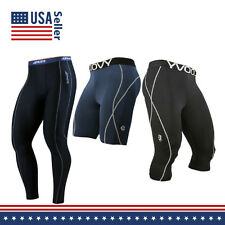 Mens COOVY Compression Under Base Layer Sports Running Shorts and Tights pants