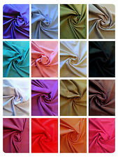 "Linen Look Cotton Fabric Dress Material - 17 Plain Colours - 58"" (145cm) Wide"