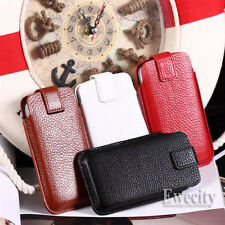 Pull Up Genuine Cow Smart Leather Case Pouch Bag For Apple iPhone iPhone 4 4G 4S