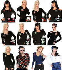 HALLOWEEN 2013 CARDIGAN PARTY ROCKABILLY TATTOO SKULL ZOMBIE TOP DARK GOTH 50S