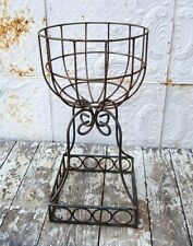 "29"" Square Round Garden Urn Planter - Heavy for Lasting Beauty - Wrought Iron"