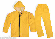 Delta Plus Panoply EN850 Yellow PVC Waterproof Rainsuit Trousers Jacket Coat