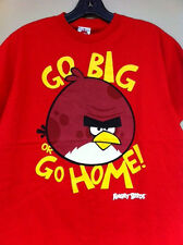 Angry Birds Boys Youth TShirt Go Big Go Home Red NWT Free Shipping