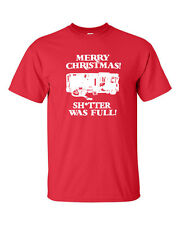 Merry Christmas Sh!tter Was Full Vacation Uncle Eddie Funny Men's Tee Shirt