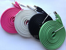 FLAT Micro USB Sync Data Cable Cord 10ft Long for Galaxy S3 S4 Note HTC Nokia LG