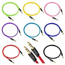 3.5mm Flat Male to male Stereo Audio Auxiliary AUX Cable for Music PC Car Phone